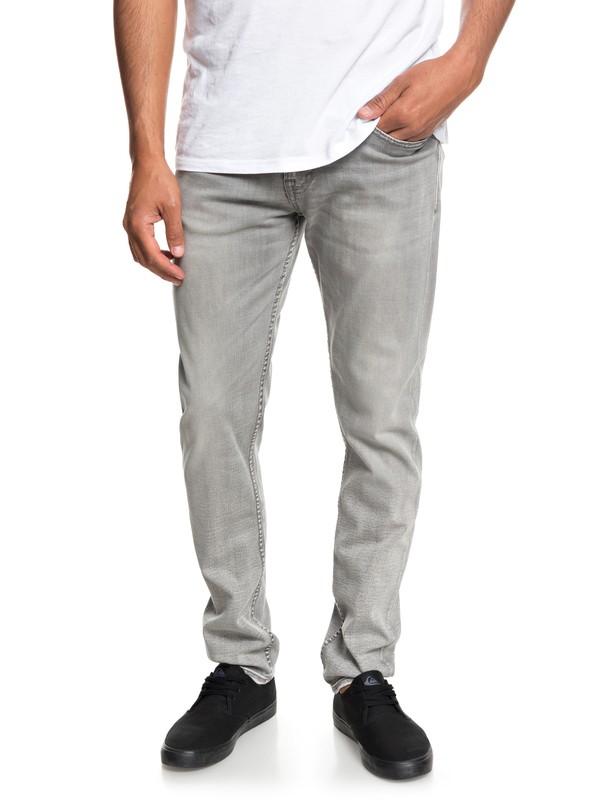 0 Pantalones de Mezclilla Ajuste Esbelto Distorsion Stone Gris EQYDP03368 Quiksilver