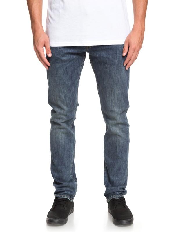 0 Revolver Medium Blue Straight Fit Jeans Blue EQYDP03372 Quiksilver