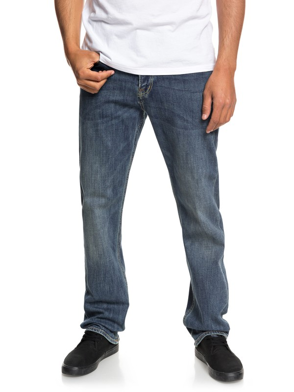 0 Sequel Medium Blue Regular Fit Jeans Blue EQYDP03373 Quiksilver
