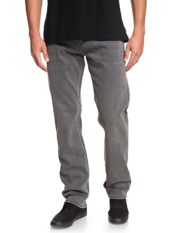 0 Sequel Granite Stone - Regular Fit Jeans for Men Black EQYDP03390 Quiksilver