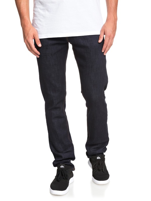 0 Revolver Rinse Straight Fit Jeans Blue EQYDP03394 Quiksilver