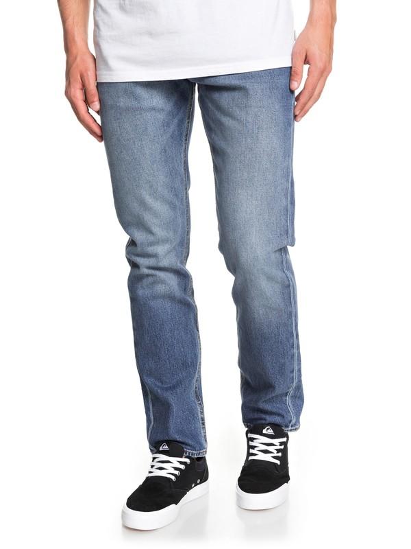 0 Revolver Medium Blue Straight Fit Jeans Blue EQYDP03404 Quiksilver