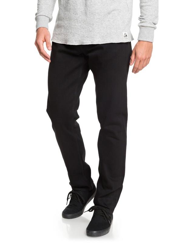 0 Revolver Black Black Straight Fit Jeans Black EQYDP03406 Quiksilver