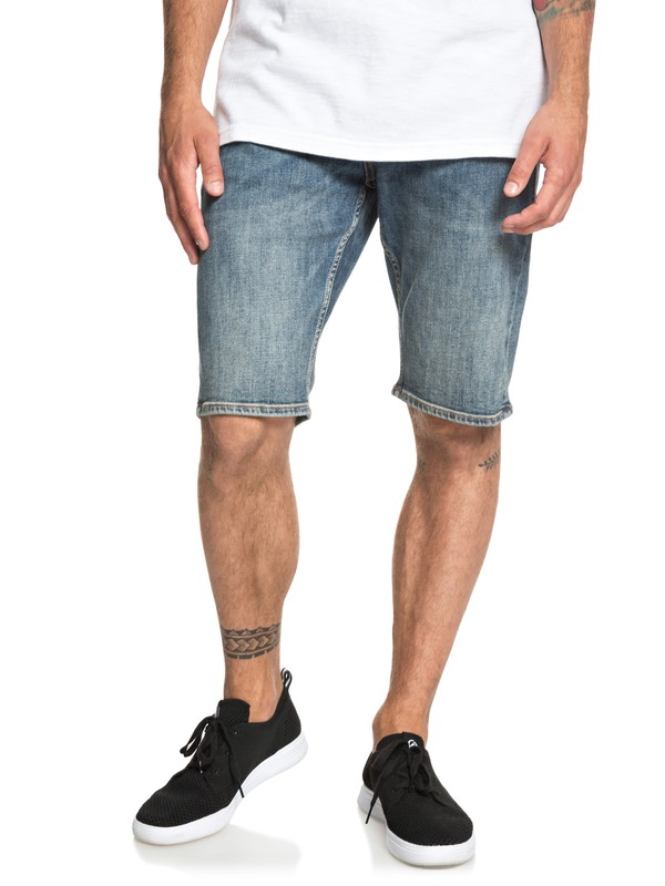 0 Sequel Medium Blue - Short en denim pour Homme Bleu EQYDS03086 Quiksilver
