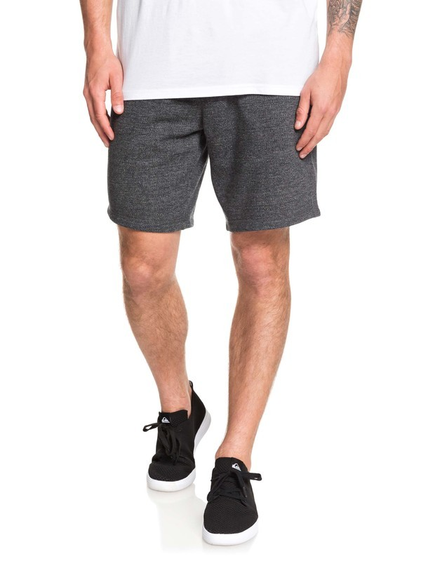 "0 Rio 19"" Sweat Shorts Black EQYFB03193 Quiksilver"