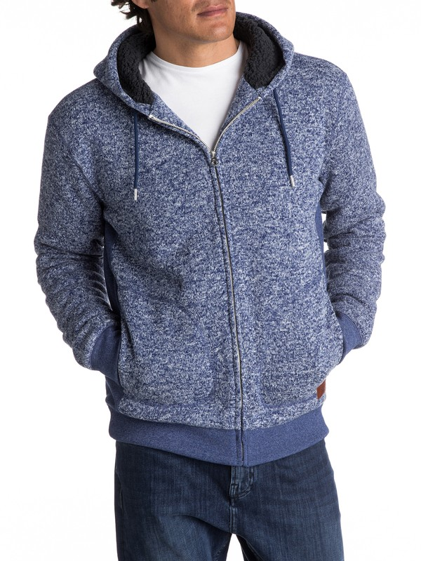 0 Keller Sherpa Zip-Up Polar Fleece Hoodie  EQYFT03662 Quiksilver