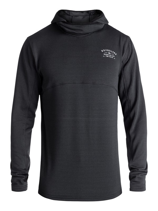 0 TR Log - Polartec® Hooded Fleece for Men Black EQYFT03782 Quiksilver