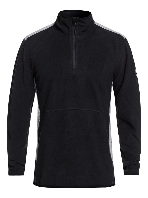 0 Aker Technical Half Zip Fleece Black EQYFT03784 Quiksilver