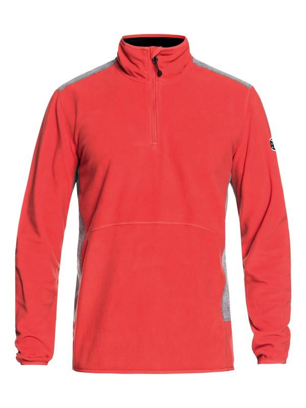 0 Aker - Technical Half-Zip Fleece for Men Red EQYFT03784 Quiksilver