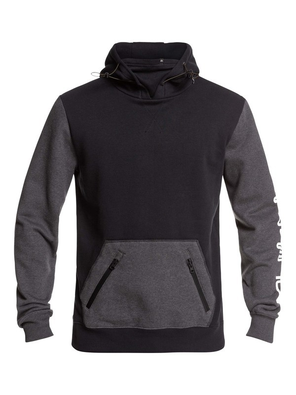 0 Big Logo Technical Hoodie Black EQYFT03787 Quiksilver