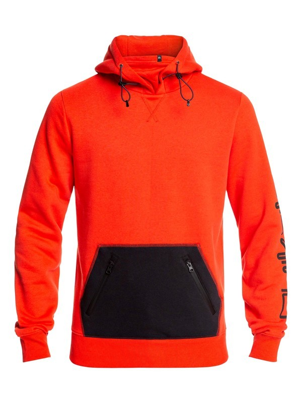 0 Big Logo Technical Hoodie Red EQYFT03787 Quiksilver