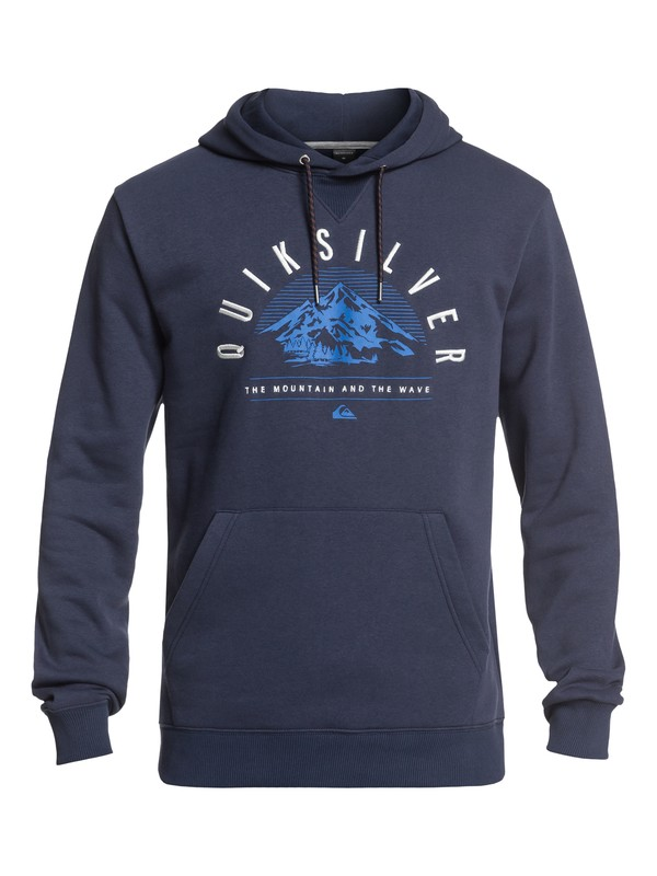 0 Big Logo Technical Hoodie with DryFlight® Blue EQYFT03789 Quiksilver
