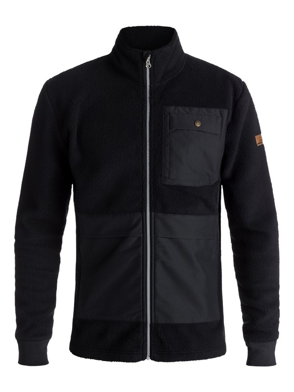 0 Track Hybrid Sherpa - Technical Zip-Up Fleece for Men Black EQYFT03816 Quiksilver