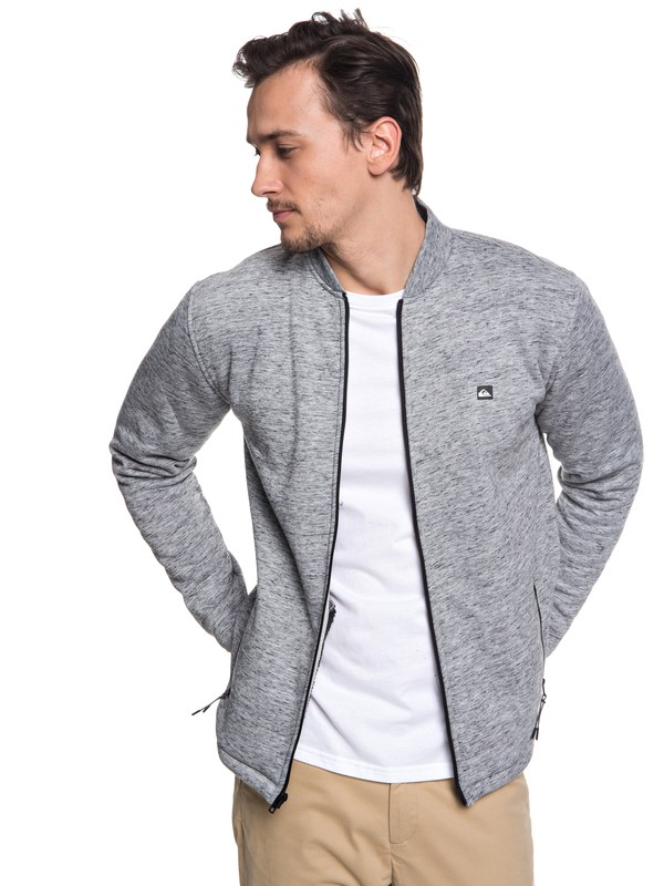 Kurow Sherpa - Bonded Zip-Up Bomber Sweatshirt for Men  EQYFT03832