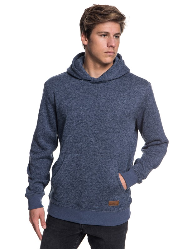 0 Keller - Polar Fleece Hoodie for Men Blue EQYFT03836 Quiksilver