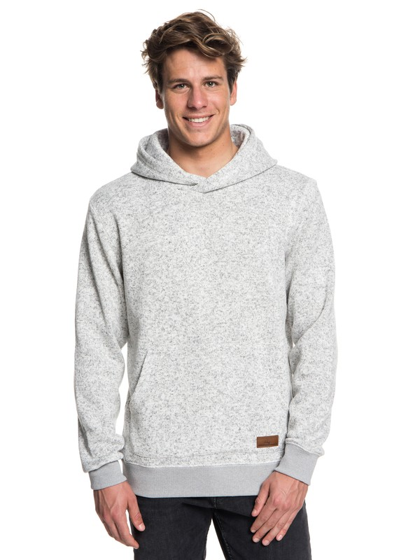 0 Keller - Polar Fleece Hoodie for Men Grey EQYFT03836 Quiksilver