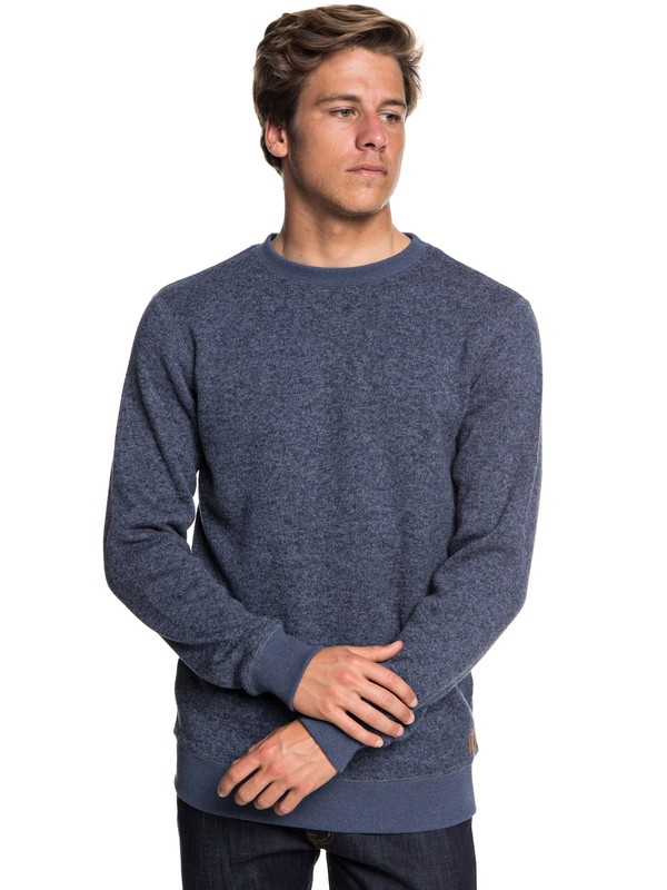 0 Keller - Polar Fleece Sweatshirt for Men Blue EQYFT03837 Quiksilver