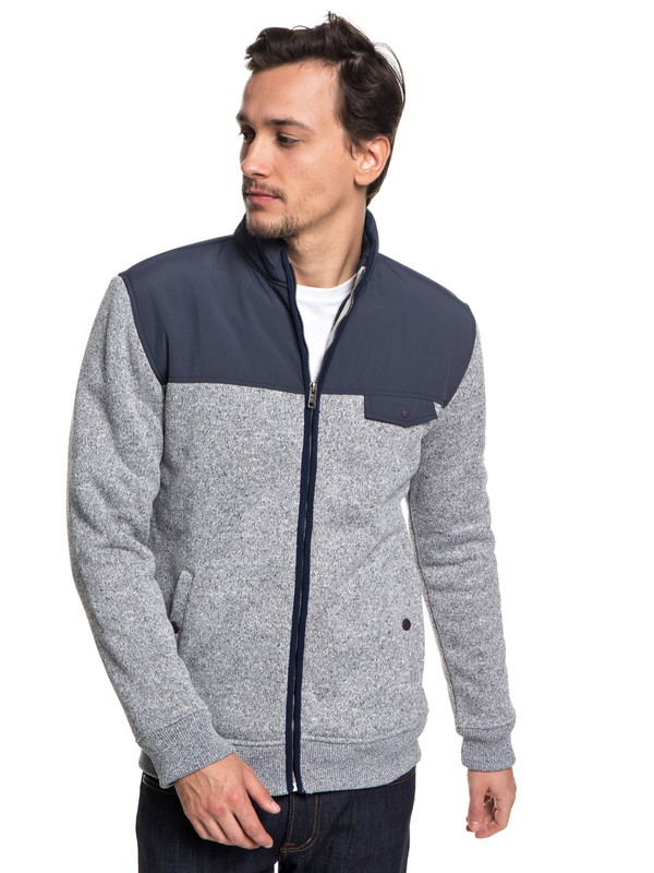 0 Keller - Zip-Up Polar Fleece for Men Blue EQYFT03838 Quiksilver