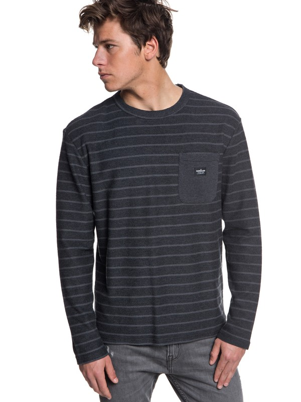 0 Shonan Peak - Long Sleeve Top for Men Black EQYFT03842 Quiksilver