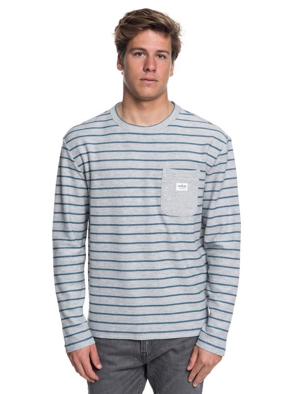 0 Shonan Peak - Long Sleeve Top for Men Grey EQYFT03842 Quiksilver
