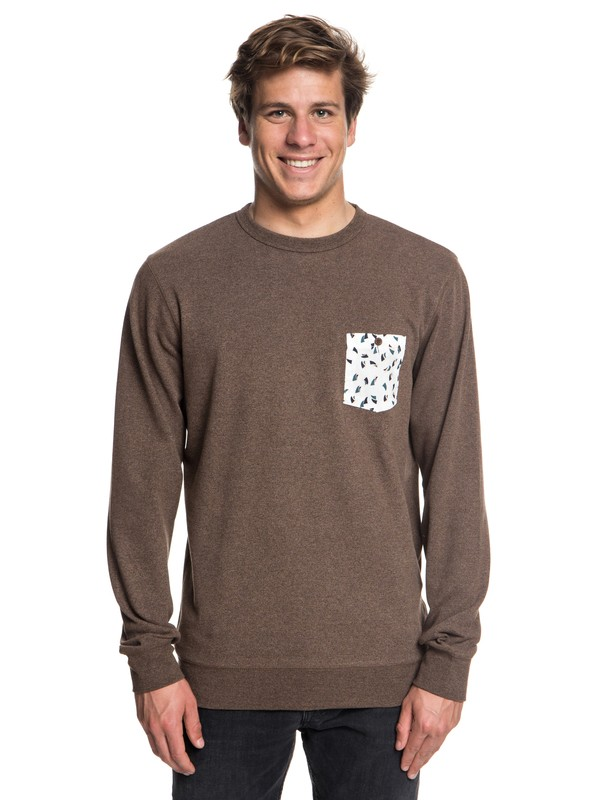 0 Takao Man - Sweatshirt for Men Brown EQYFT03843 Quiksilver