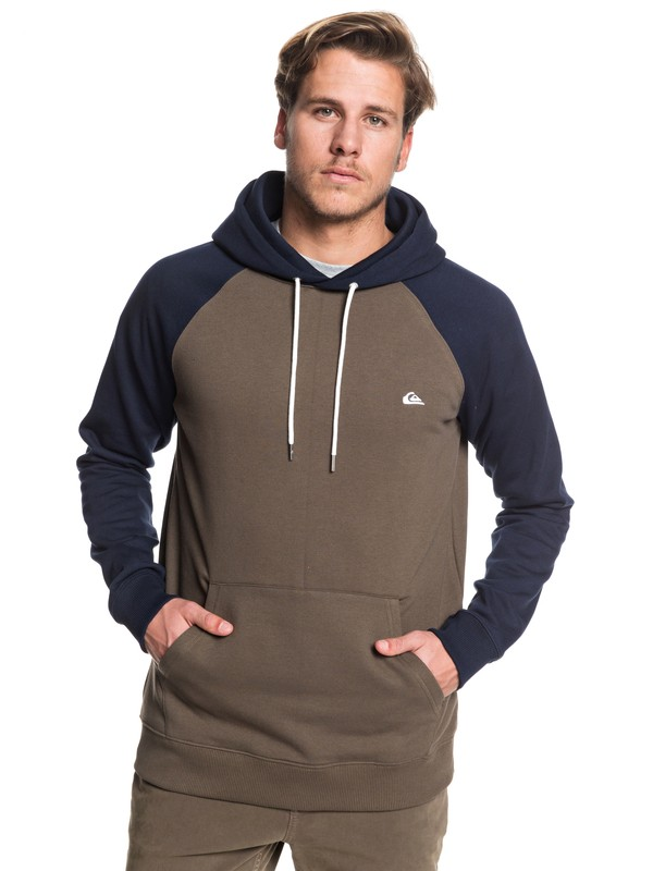 0 Everyday Hoodie Brown EQYFT03846 Quiksilver