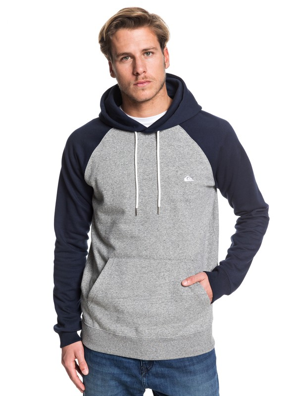 0 Everyday - Hoodie Grey EQYFT03846 Quiksilver