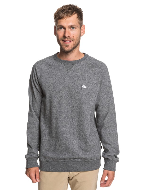 0 Everyday - Sweatshirt for Men Black EQYFT03847 Quiksilver