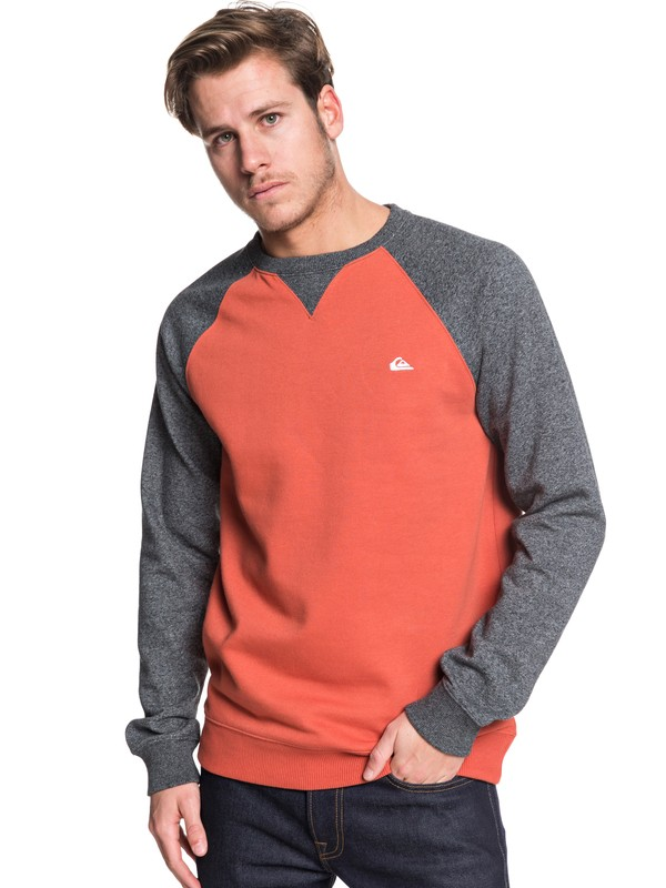0 Everyday - Sweat pour Homme Rose EQYFT03847 Quiksilver