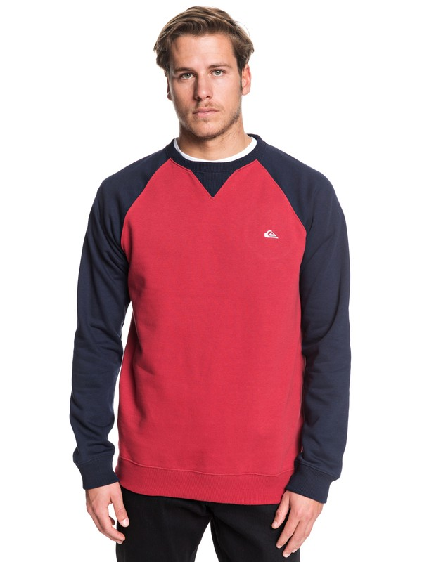 0 Everyday - Sweatshirt Red EQYFT03847 Quiksilver
