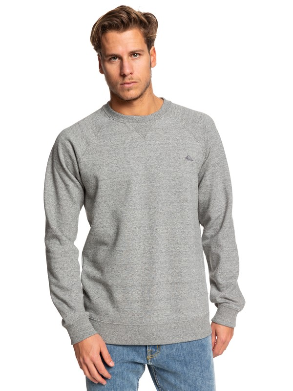 0 Everyday - Sweat pour Homme Gris EQYFT03847 Quiksilver