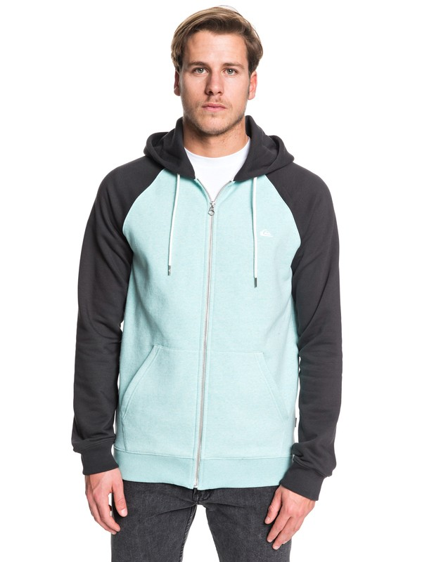 0 Everyday - Zip-Up Hoodie Blue EQYFT03849 Quiksilver
