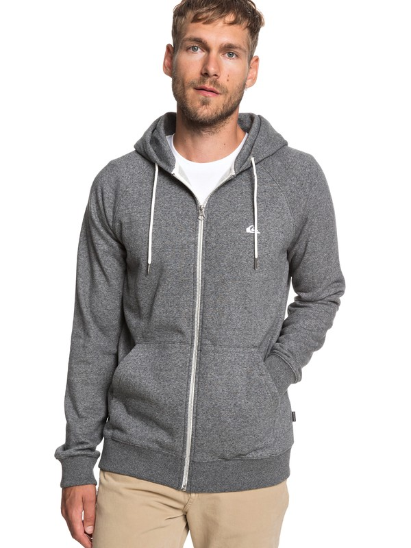 0 Everyday Zip-Up Hoodie Black EQYFT03849 Quiksilver