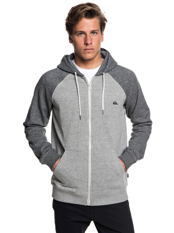 0 Everyday - Zip-Up Hoodie Grey EQYFT03849 Quiksilver