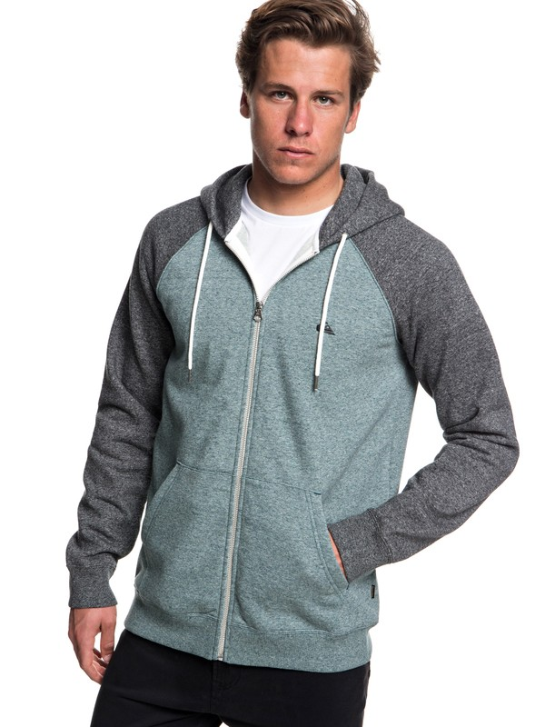 0 Everyday Zip-Up Hoodie Blue EQYFT03849 Quiksilver
