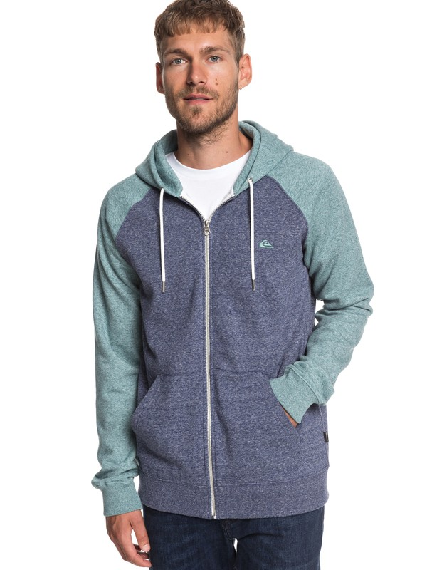 0 Everyday - Zip-Up Hoodie for Men Blue EQYFT03849 Quiksilver