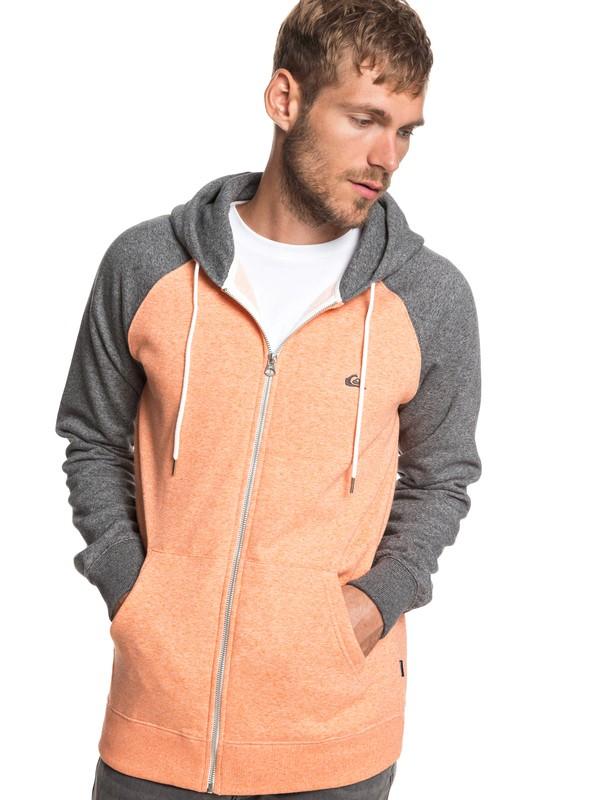 0 Everyday - Zip-Up Hoodie for Men Orange EQYFT03849 Quiksilver