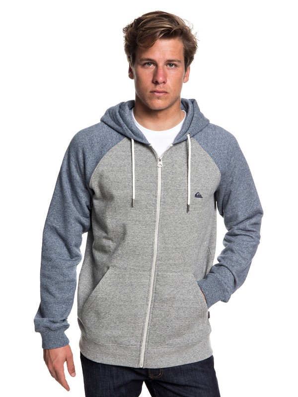 0 Everyday Zip-Up Hoodie Grey EQYFT03849 Quiksilver