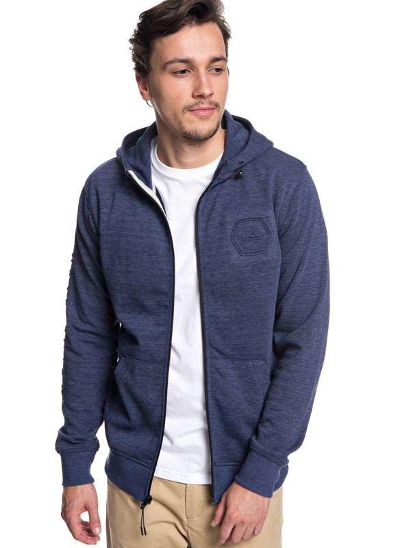 0 Yattemi - Technical Zip-Up Hoodie for Men Blue EQYFT03850 Quiksilver