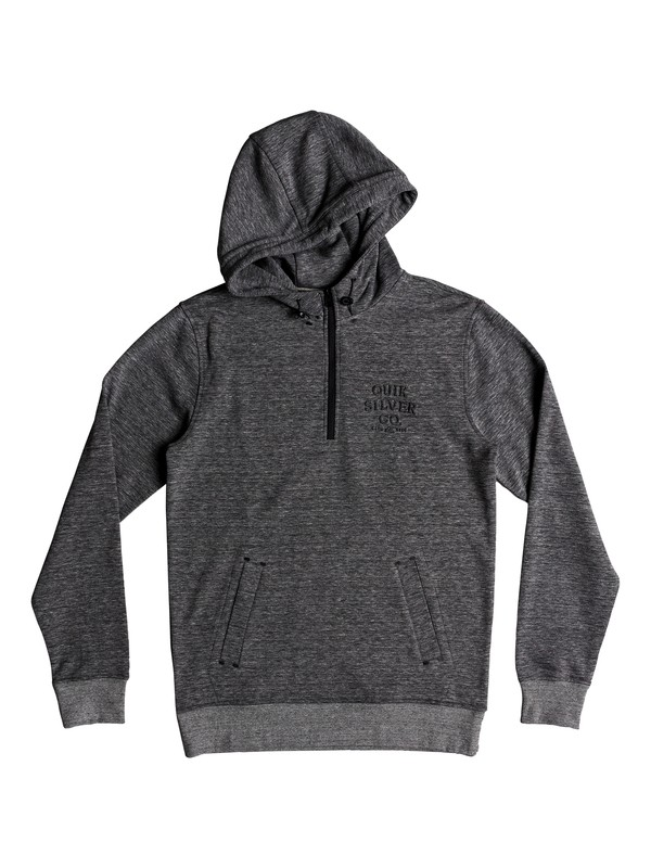 0 Yattemi - Technical Half-Zip Hoodie for Men Black EQYFT03851 Quiksilver