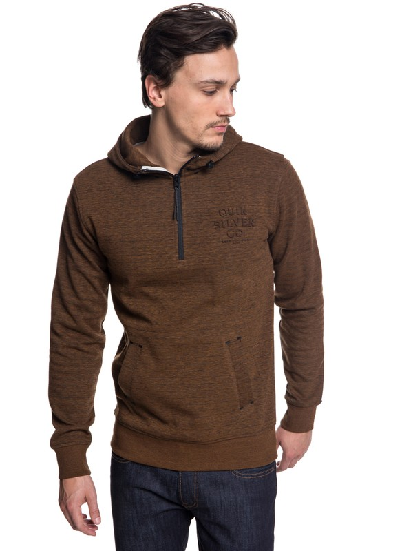 0 Yattemi - Technical Half-Zip Hoodie for Men Brown EQYFT03851 Quiksilver