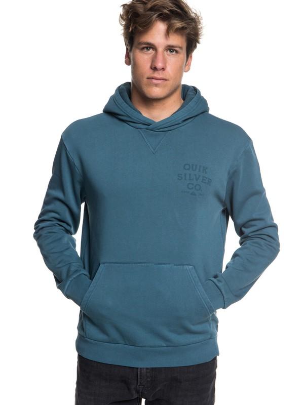 0 Aso Plains Hoodie Blue EQYFT03855 Quiksilver