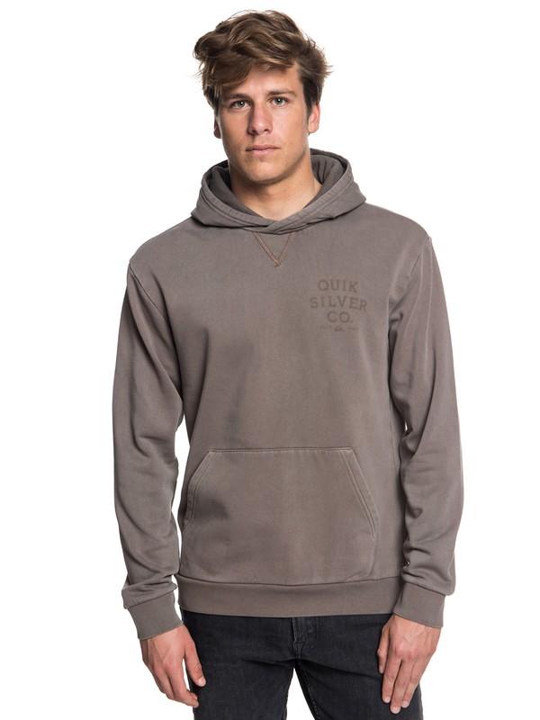 0 Aso Plains Hoodie Grey EQYFT03855 Quiksilver