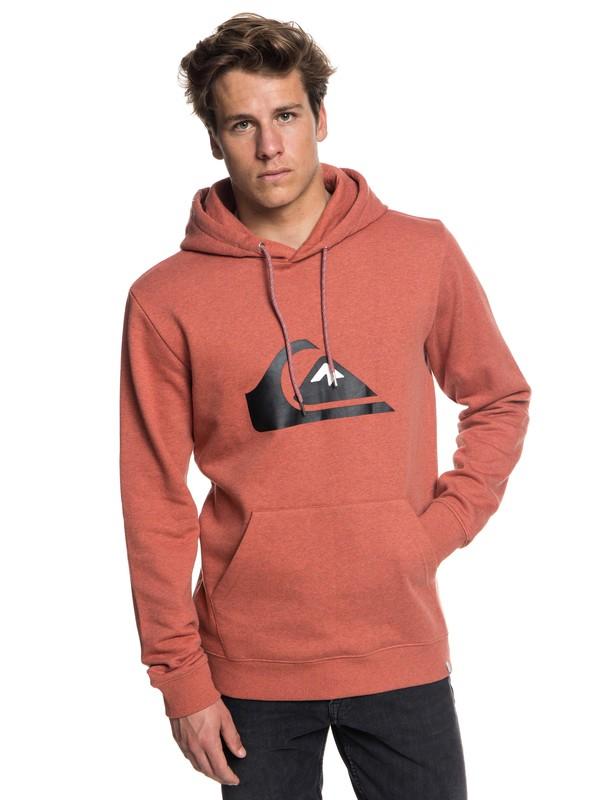 0 Big Logo - Hoodie for Men Red EQYFT03856 Quiksilver
