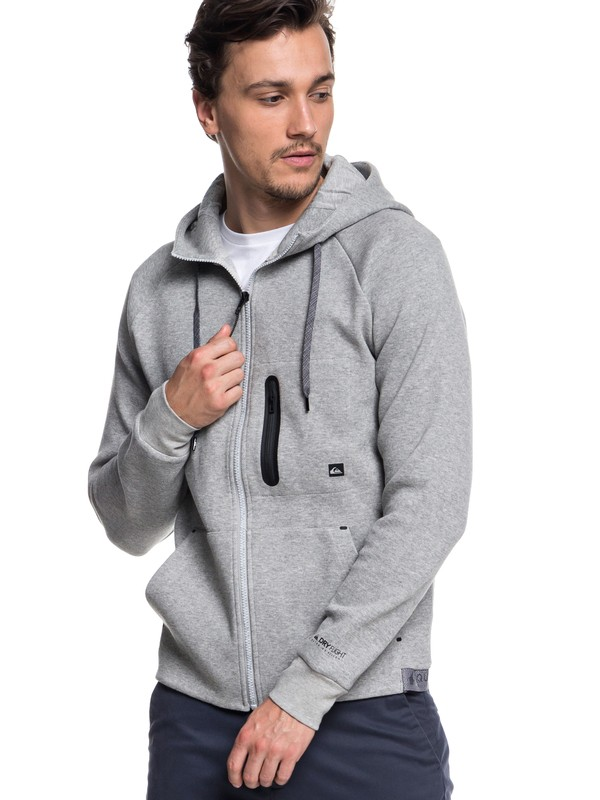 0 Quikbond - Technical Zip-Up Hoodie for Men Gray EQYFT03860 Quiksilver