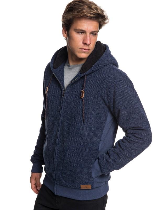 0 Keller - Zip-Up Polar Fleece Hoodie for Men Blue EQYFT03879 Quiksilver
