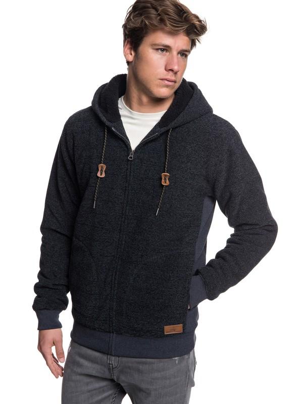 0 Keller - Zip-Up Polar Fleece Hoodie for Men Black EQYFT03879 Quiksilver
