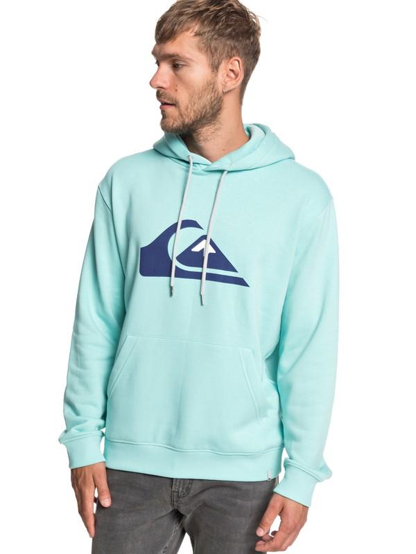 0 Big Logo - Sweat à capuche pour Homme Bleu EQYFT03922 Quiksilver
