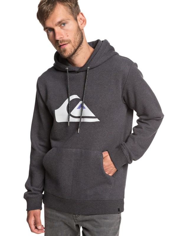 0 Big Logo - Sweat à capuche pour Homme Noir EQYFT03922 Quiksilver