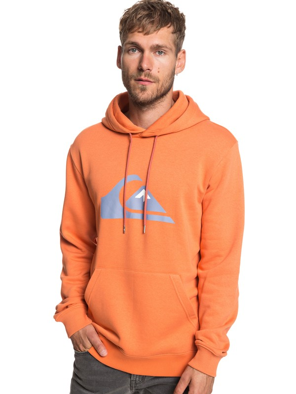 0 Big Logo - Sweat à capuche pour Homme Orange EQYFT03922 Quiksilver